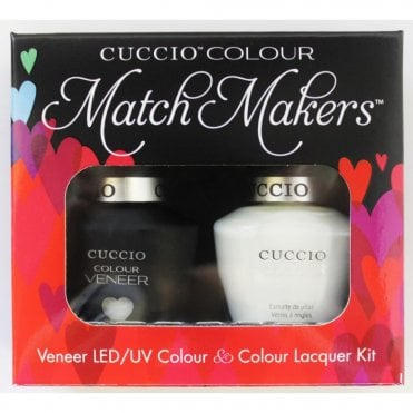 Colour Cocktail Collection - Veneer UV/LED Polish Match Maker Sets - White Russian 2 x 13ml