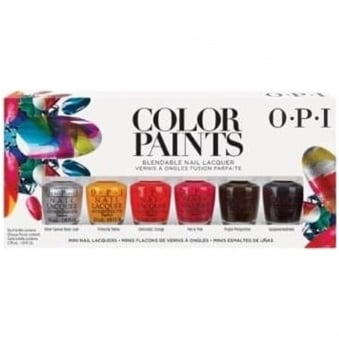 Colour Paints Creative & Blending Nail Polish Collection - Mini Pack (6 X 3.75ML)