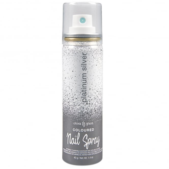 China Glaze Coloured Nail Spray - Platinum Silver 40g