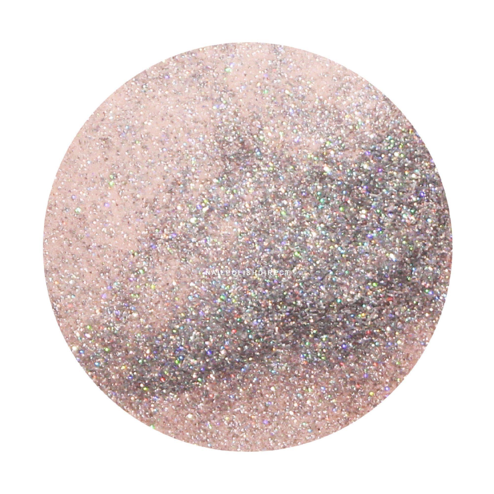 Light Pink With Rainbow Glitter