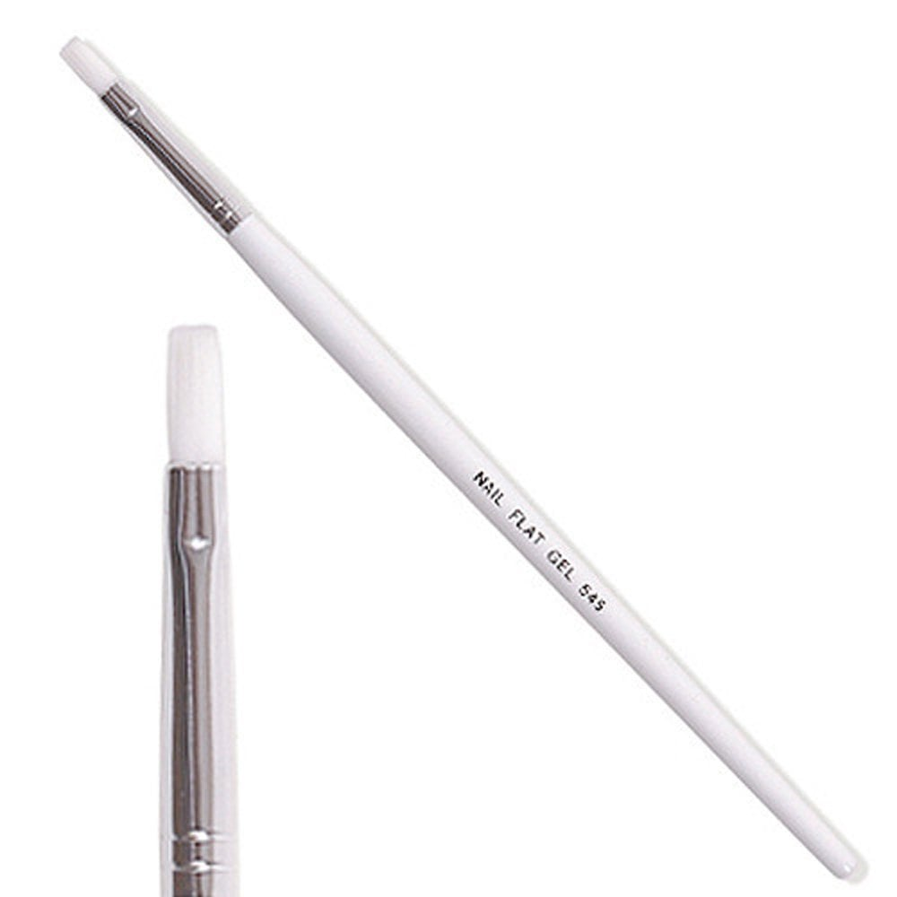 Cuccio Professional Flat Nylon UV Nail Gel Brush at Nail Polish Direct