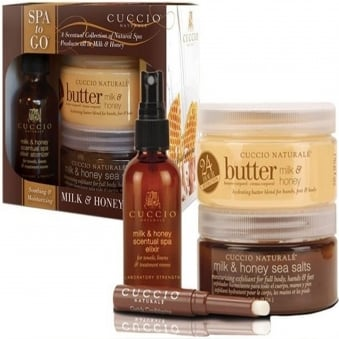 Spa to Go - Milk & Honey Soothing and Moisturizing Spa Kit (4-Piece)