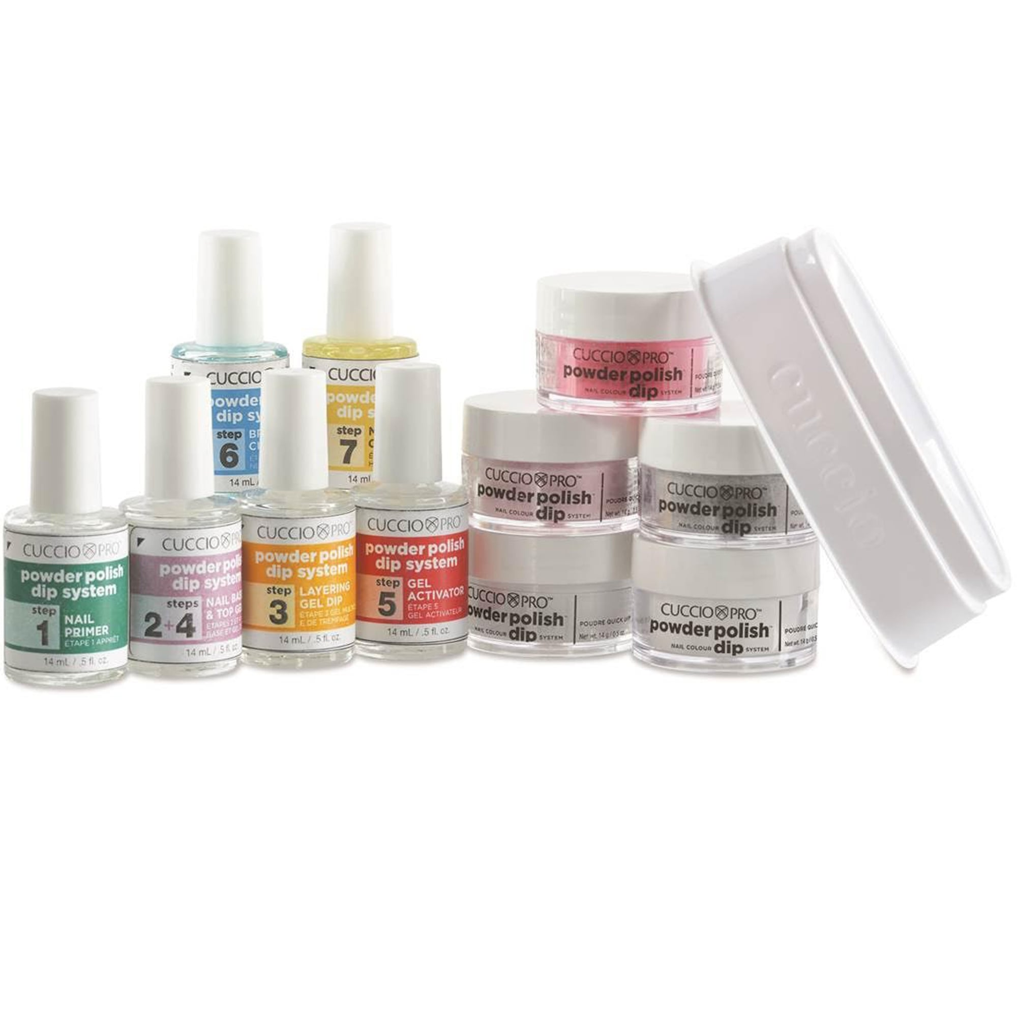 Nail Dipping System: Cuccio Powder Dip System Primer / Base &Top Coat/ Layering