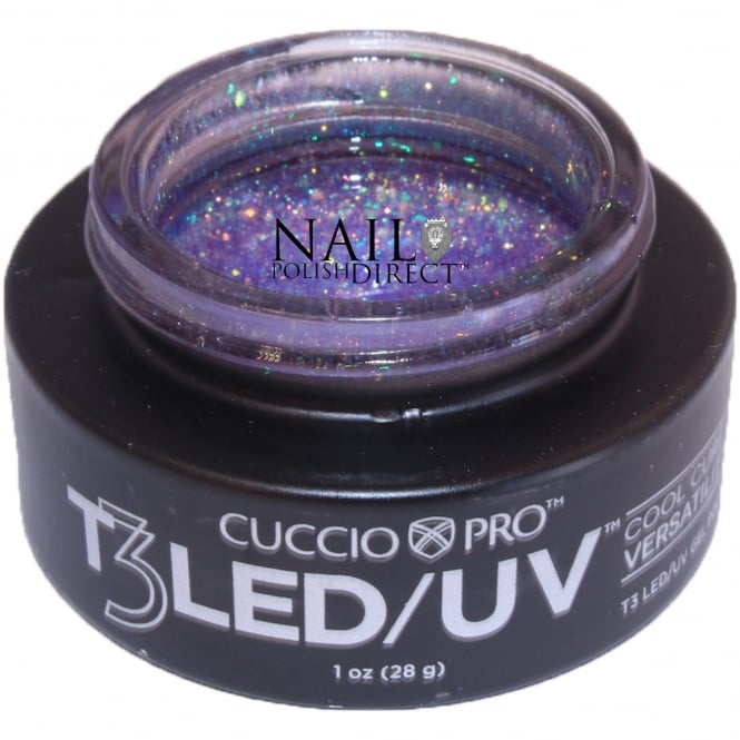 Cuccio T3 LED/UV Cool Cure Versatility Gel - Barbie Glitter 28g (CP6963)