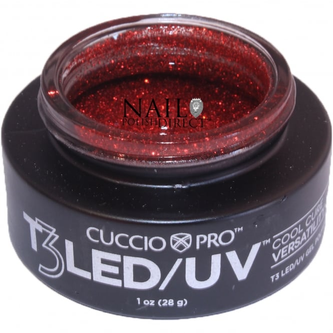 Cuccio T3 LED/UV Cool Cure Versatility Gel - Ruby Red 28g (CP6971LED)