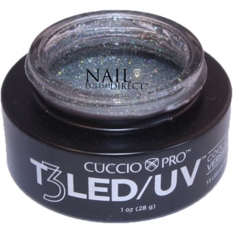 T3 LED/UV Cool Cure Versatility Gel - Silver Sparkle 28g (CP6965)
