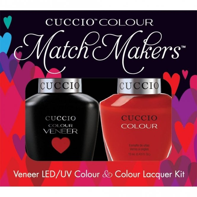 Cuccio Veneer UV/LED Polish Match Maker Sets - A Kiss In Paris x2 13ml (6026LEDMATCHMAKER)