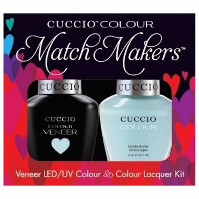 Cuccio Veneer UV/LED Polish Match Maker Sets - Meet Me In Mykonos x2 13ml (6047LEDMATCHMAKER)