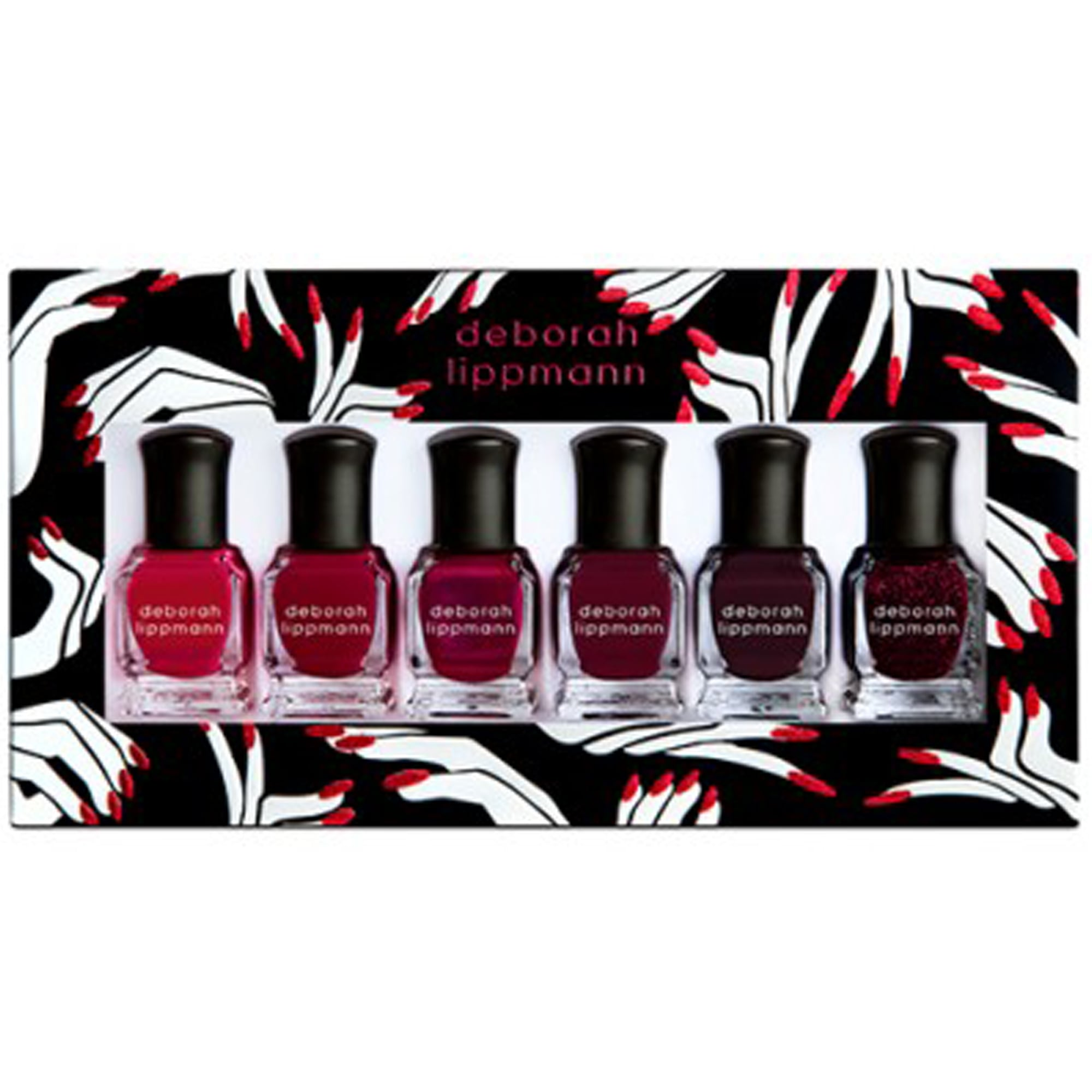 Deborah Lippmann Pro Nail Lacquer Set - Lady In Red (11240) 6 x 8ml