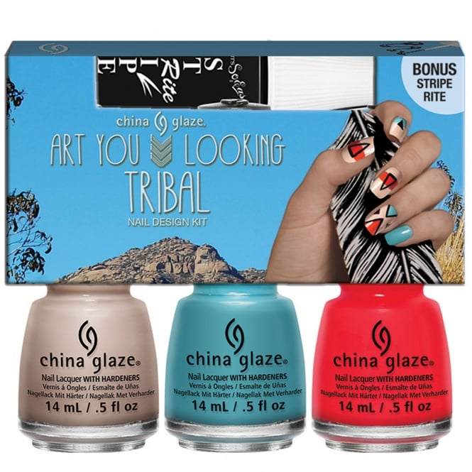 China Glaze Desert Escape Nail Polish Collection 2015 - Art You Looking Tribal? Nail Design Set (x3 Piece) 14mL