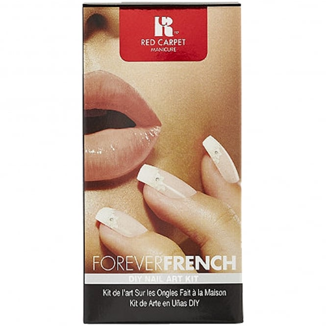 Red Carpet Manicure Gel DIY Nail Art Kit - Forever French Set (9 Piece)