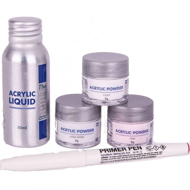 Edge Nails Acrylic Powder & Liquid Trial Pack (5 Piece Set)