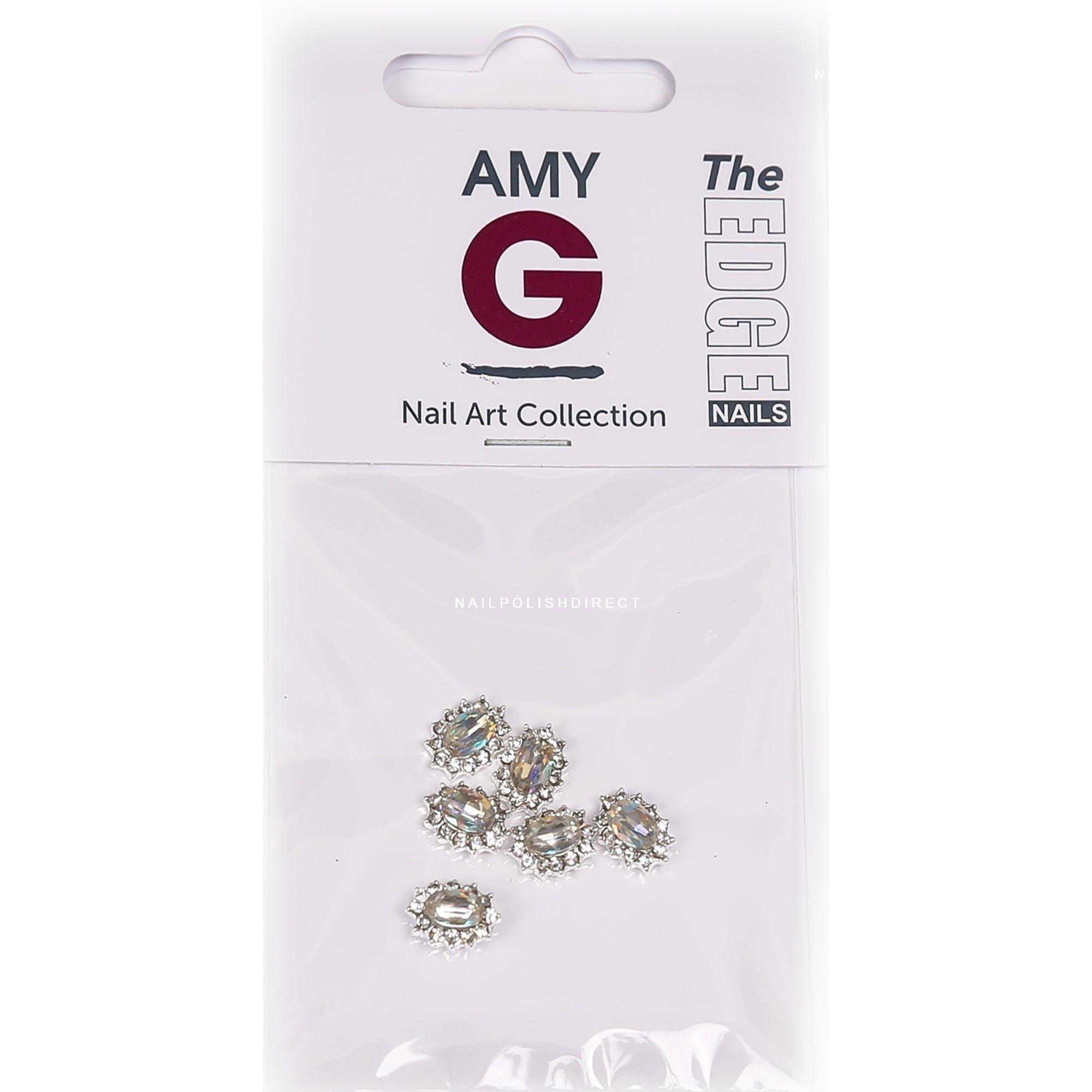 Amy G - 3D Nail Art Nail Jewels - Oval Diamond (6 PCS) (3003048)