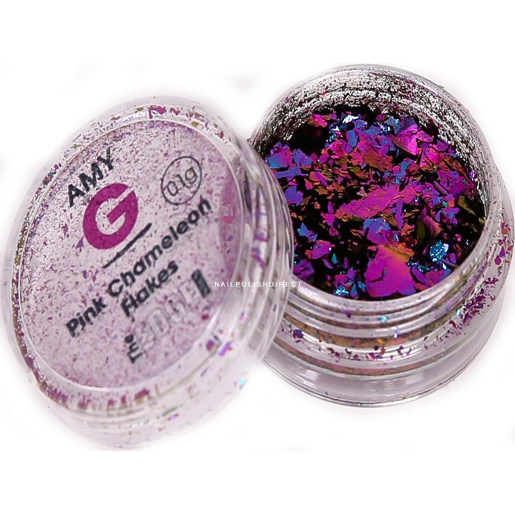 Amy G Chameleon Nail Art Flakes Pink 01g 3003020