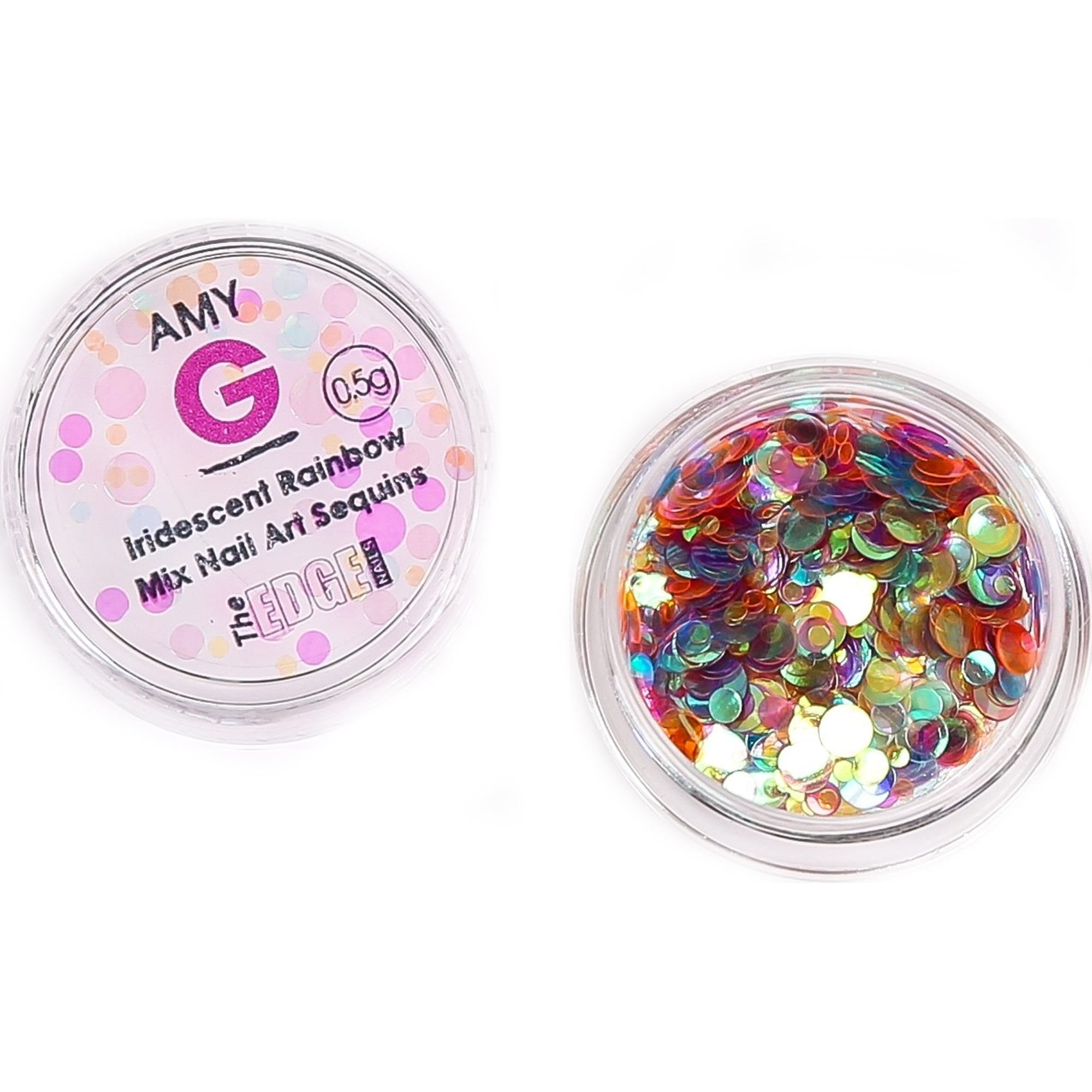 The Edge Nails Amy G - Iridescent Nail Art Sequins - Rainbow 0 5g (3003069)