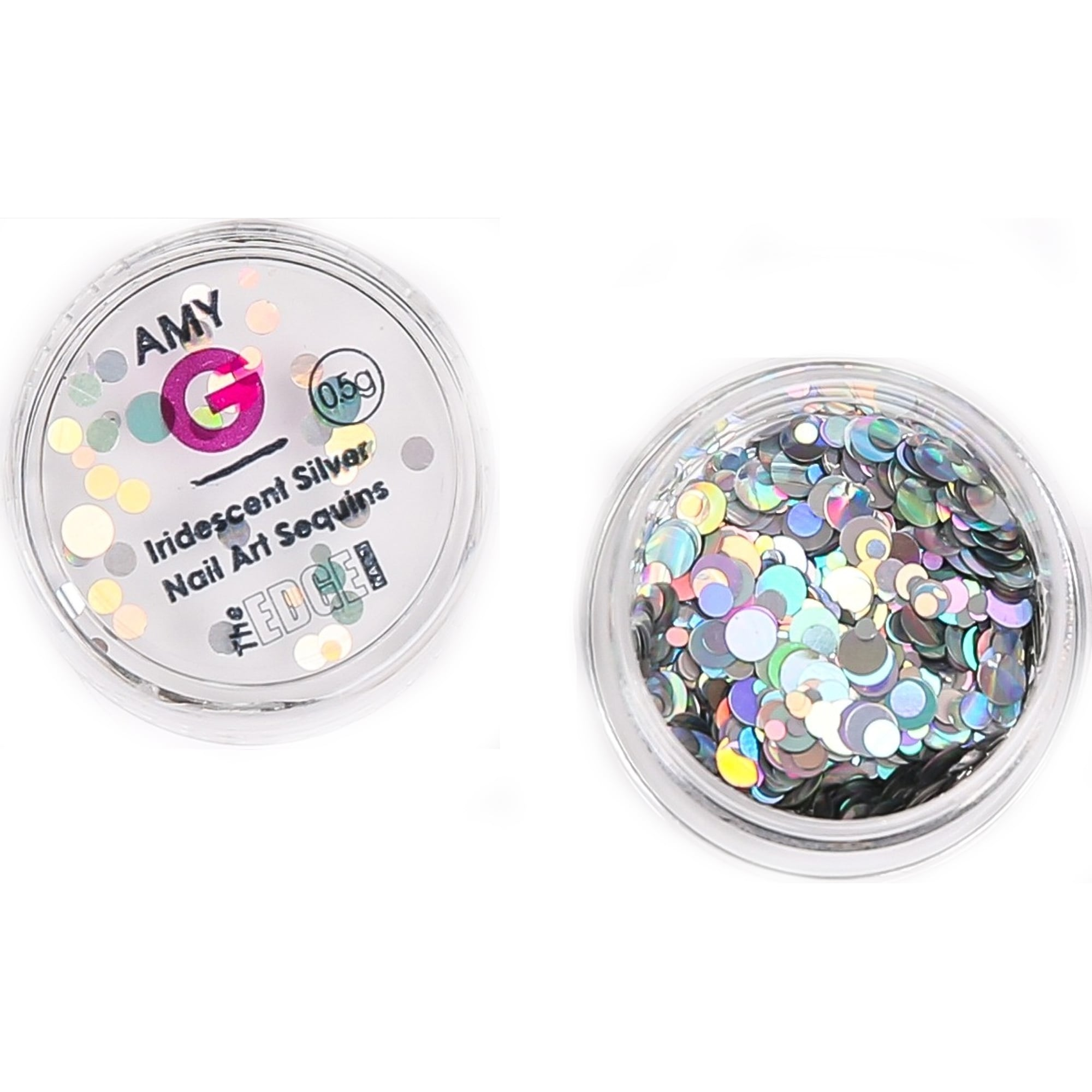 Amy G - Iridescent Nail Art Sequins - Silver 0.5g (3003075)