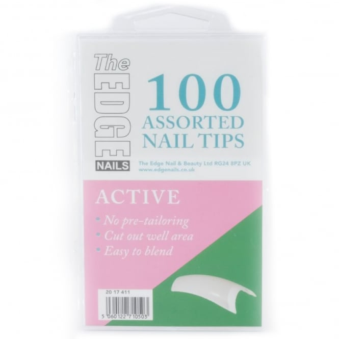 Edge Nails Assorted Nail Tips - Active (100 Pieces)