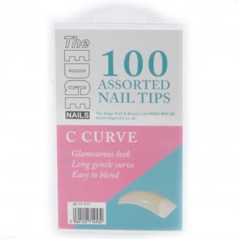 Assorted Nail Tips - Big C Curve (100 Pieces)