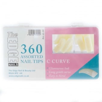 Assorted Nail Tips - Big C Curve (360 Pieces)