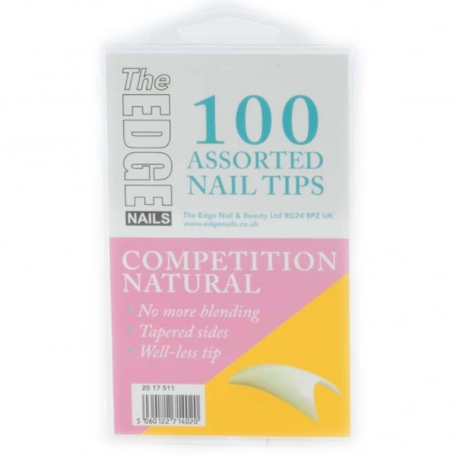 Edge Nails Assorted Nail Tips - Competition (100 Pieces)