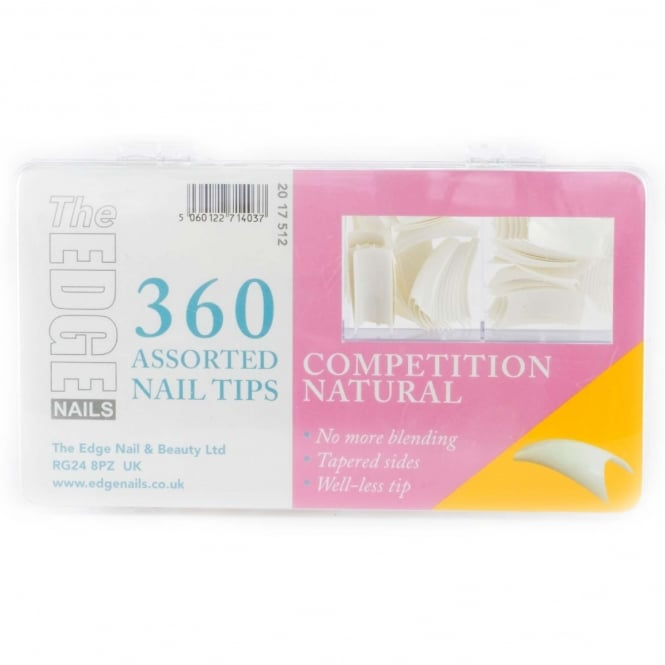Edge Nails Assorted Nail Tips - Competition (360 Pieces)