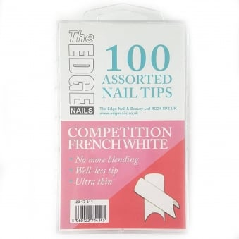 Assorted Nail Tips - Competition White (100 Pieces)