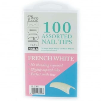 Assorted Nail Tips - French White (100 Pieces)