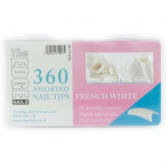 Assorted Nail Tips - French White (360 Pieces)
