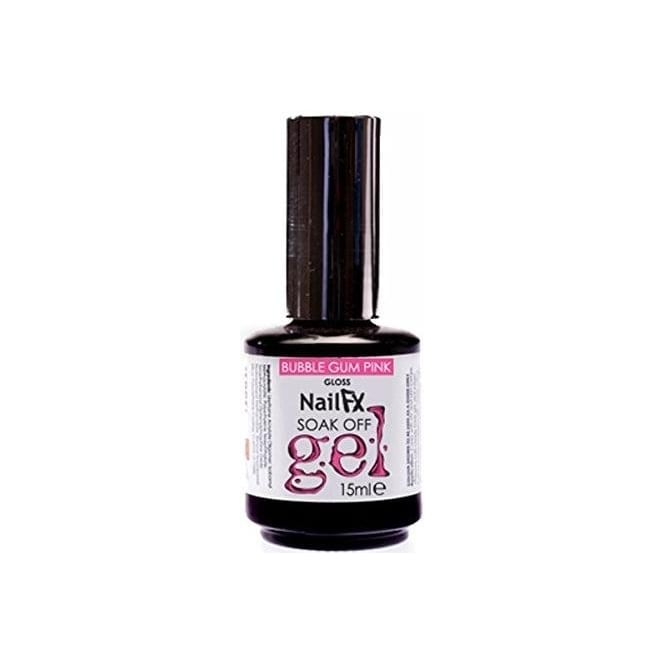 Edge Nails Nail FX Professional Soak Off Gloss Gel Polish - Bubble Gum Pink 15ml