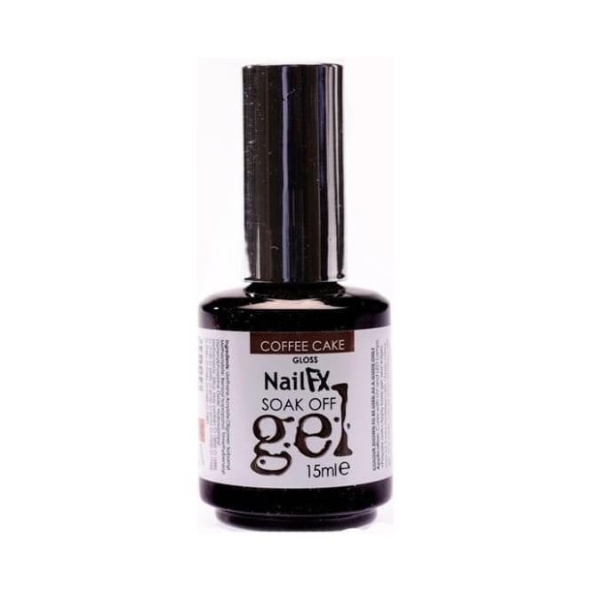 Edge Nails Nail FX Professional Soak Off Gloss Gel Polish - Coffe Cake 15ml