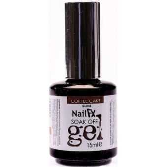 Nail FX Professional Soak Off Gloss Gel Polish - Coffe Cake 15ml