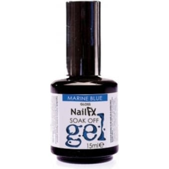 Nail FX Professional Soak Off Gloss Gel Polish - Marine Blue 15ml