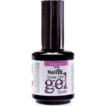 Nail FX Professional Soak Off Gloss Gel Polish - Rose Lily 15ml