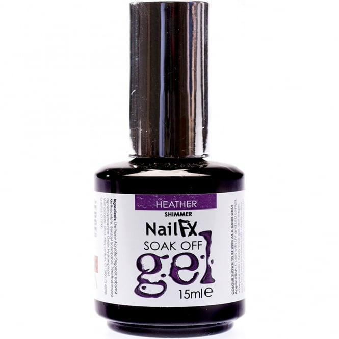 Edge Nails Nail FX Professional Soak Off Shimmer Gel Polish - Heather 15ml