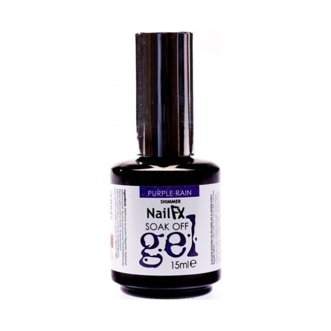 Edge Nails Nail FX Professional Soak Off Shimmer Gel Polish - Purple Rain 15ml