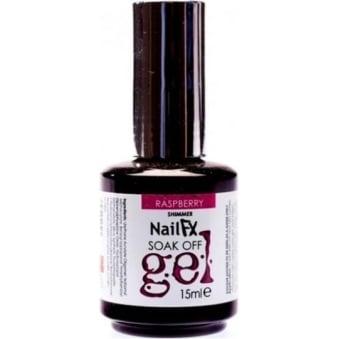 Nail FX Professional Soak Off Shimmer Gel Polish - Raspberry 15ml