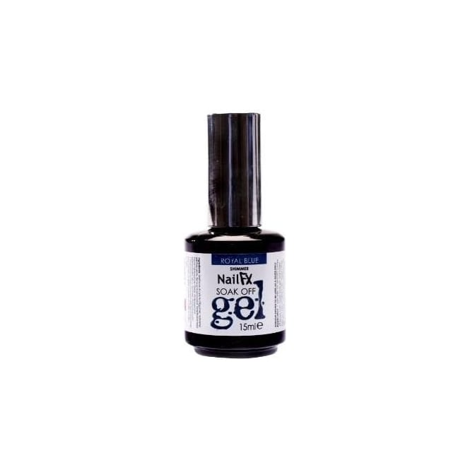 Edge Nails Nail FX Professional Soak Off Shimmer Gel Polish - Royal Blue 15ml