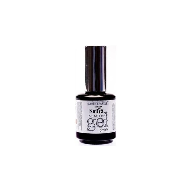 Edge Nails Nail FX Professional Soak Off Shimmer Gel Polish - Silver Sparkle 15ml