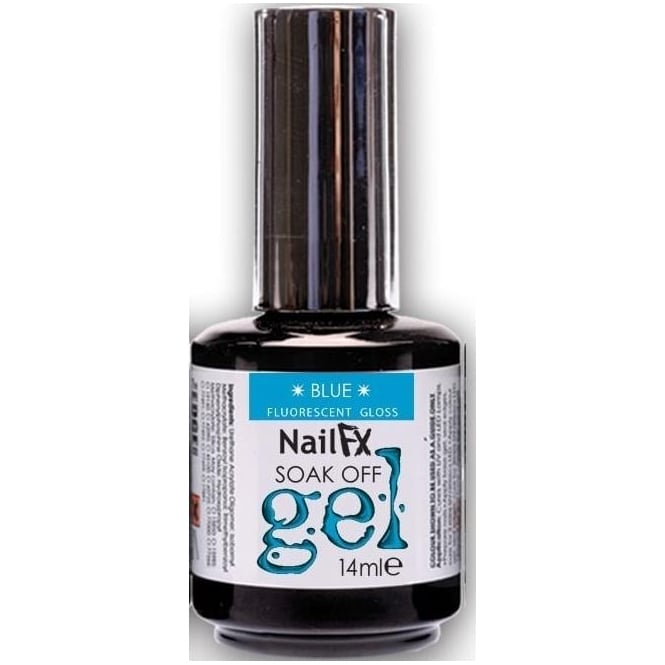 Edge Nails Nail FX Soak Off Fluorescent Gloss Gel Polish - Blue 15ml