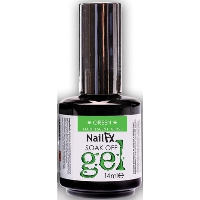 Edge Nails Nail FX Soak Off Fluorescent Gloss Gel Polish - Green 15ml