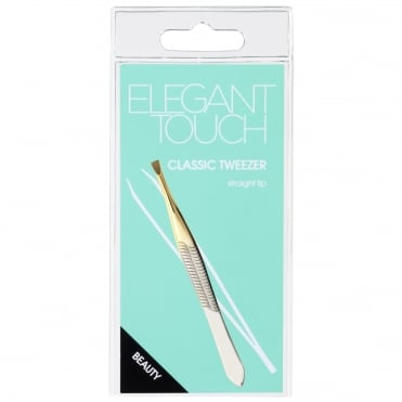 Classic Tweezer - Gold Plated Stainless Steel Straight Tip