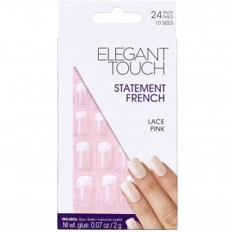 False Nails Statement French - Lace Pink (24 Pack)