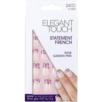 False Nails Statement French - Rose Garden Pink (24 Pack)