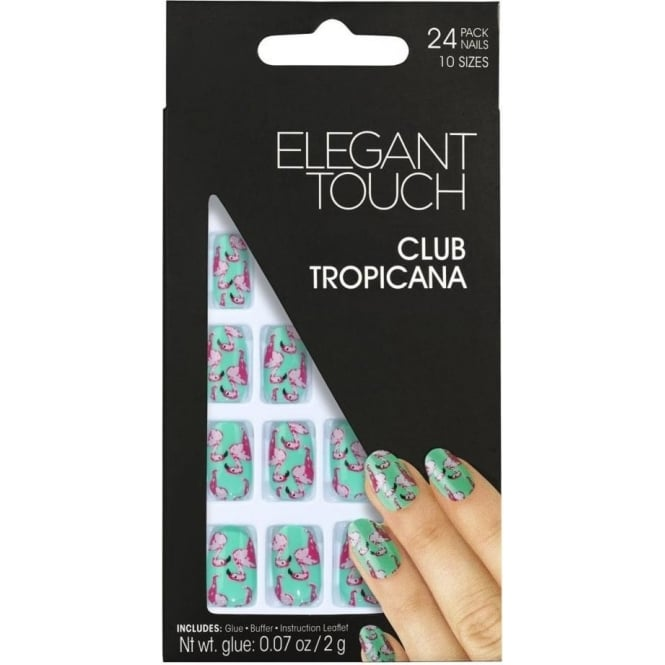 Elegant Touch False Nails Tropical Collection - Club Tropicana (24 Pack)
