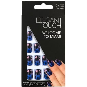 False Nails Tropical Collection - Welcome To Miami (24 Pack)