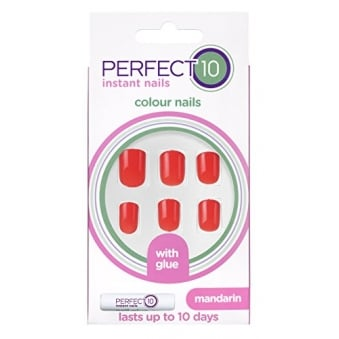 Perfect 10 Mandarin - 24 Nails With Glue In 10 Sizes