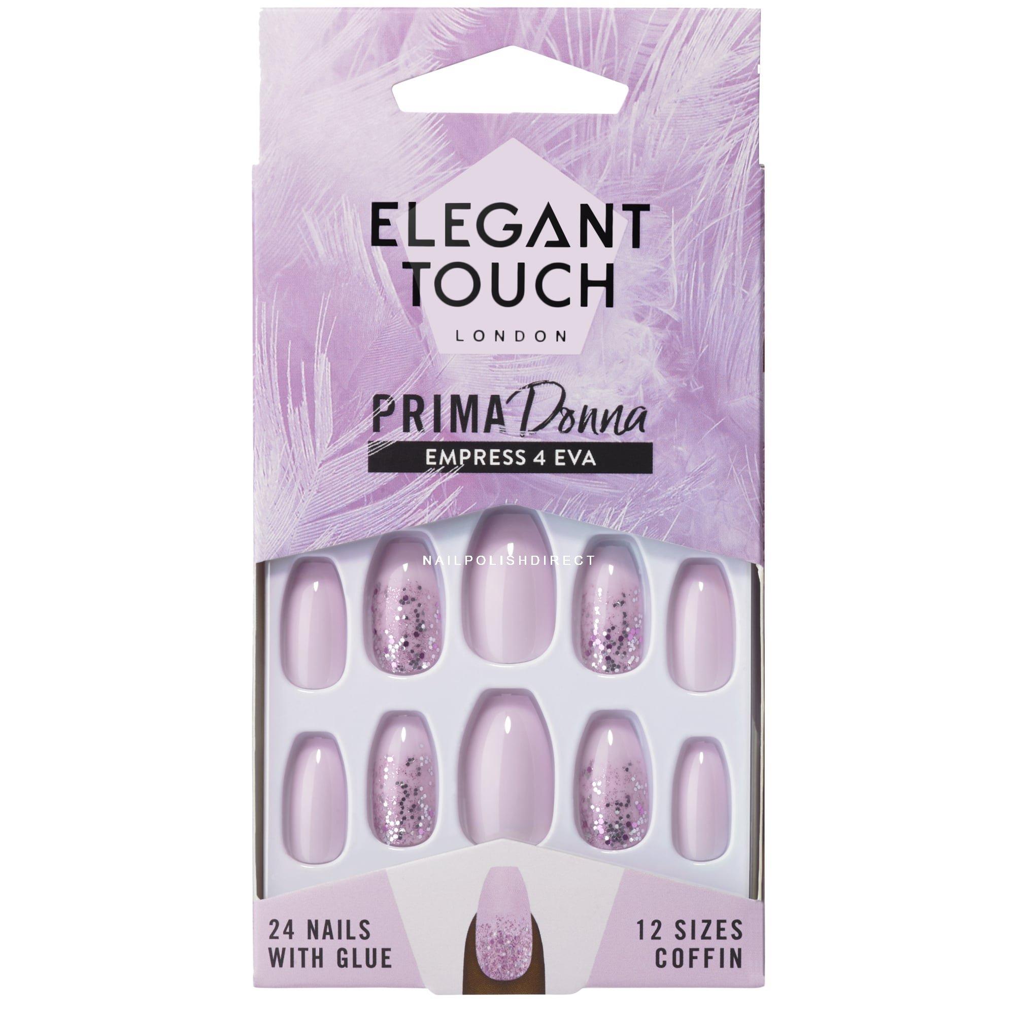 Elegant Touch - Prima Donna Nail Collection - Empress 4 Eva (24 Nails)