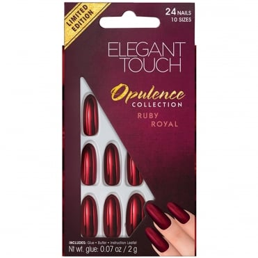 Embellished Opulence False Nails - Ruby Royal (24 Nails)