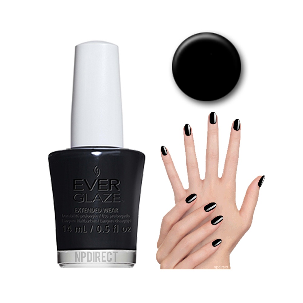 EverGlaze Nail Lacquer Back To Black Available At Nail