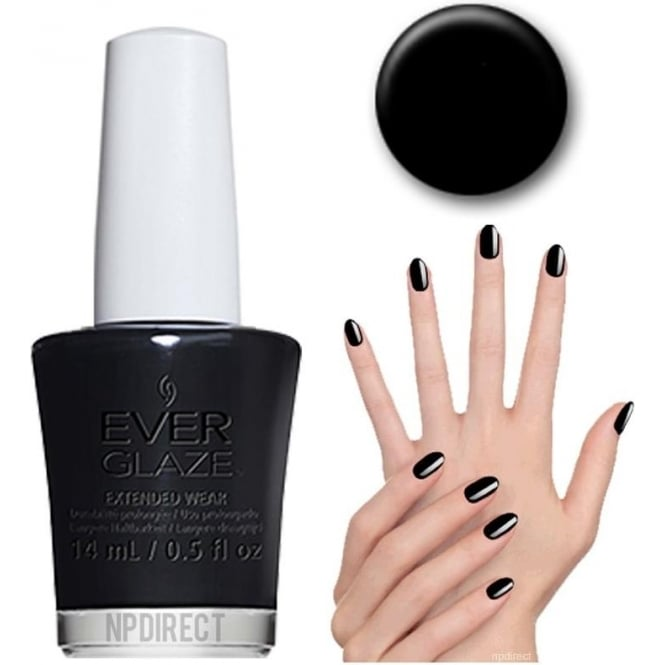 Everglaze Lacquer Extended Wear Nail Polish - Back To Black (82334) 14mL